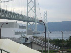 舞子から見た明石海峡大橋