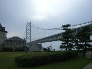 舞子公園から見る明石海峡大橋