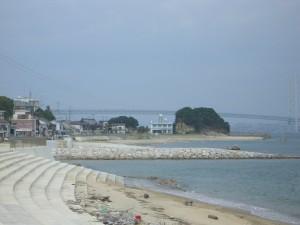 南側から大和島を見る