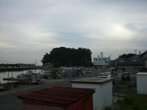 北側から大和島を見る