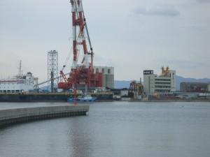 津名港 後方の埋立地を見る 1