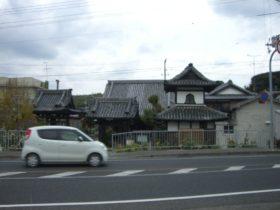 国道28号線に建つ専修寺