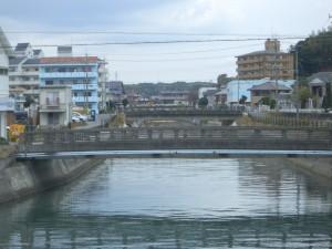 志筑川にかかる橋