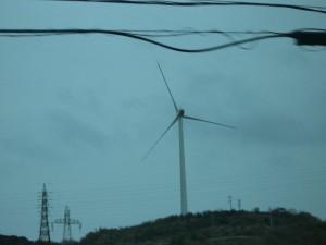 風力発電所の風車