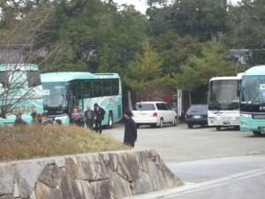 観光バスが何台か来ていました