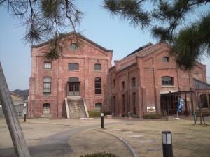 旧紡績工場のレンガ倉庫群
