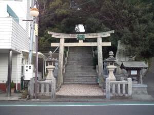 福良八幡神社 鳥居
