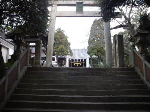 福良八幡神社 石段