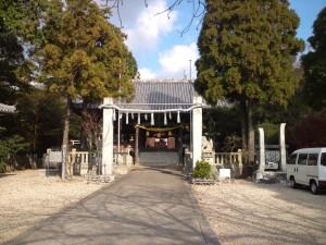 福良八幡神社 拝殿