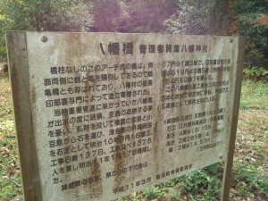 八幡橋 説明板