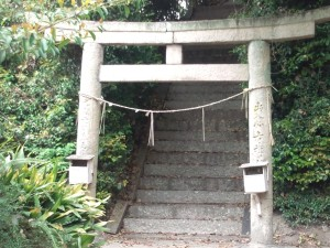 佐野八幡神社 拝殿横の鳥居