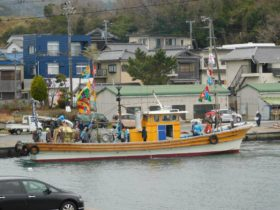 石屋神社 岩屋浦祈祷祈願祭 船渡御(海上パレード)